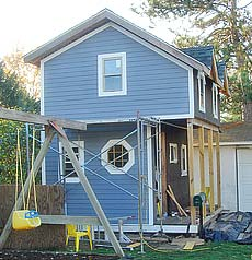 Customer references minneapolis garage construction llc for Playhouse with garage plans